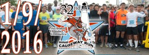 32nd Longest Causeway Run & Fitness Walk. January 6, 2016.