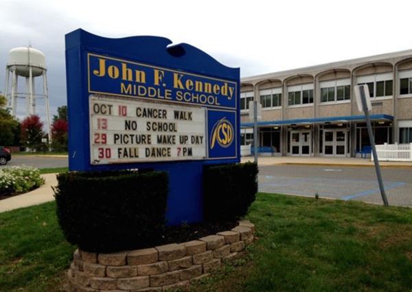 John F. Kennedy Middle School Sign