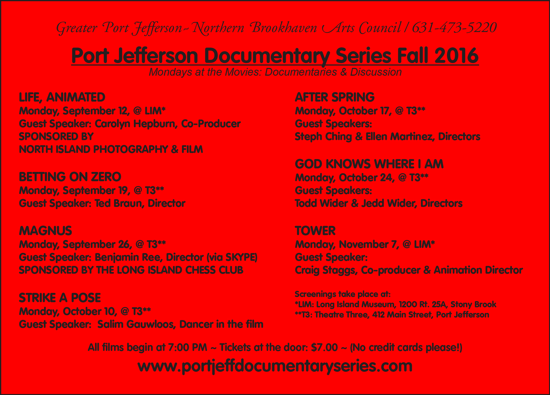 Fall 2016 Red Card port jeff documentary series