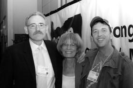 Oregon AFL-CIO President Tom Chamberlain with Barbara Byrd and Brian Dunsmore