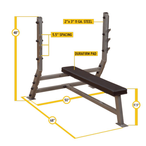 Body-Solid SFB349G Flat Olympic Bench-3