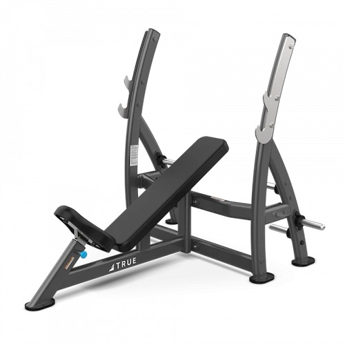 True XFW-7200 Incline Press Bench with Plate Holders