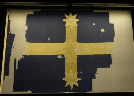 The original Eureka Flag, Australia's origin flag, is conserved in Ballarat.