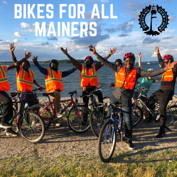Bikes for All Mainers graphic