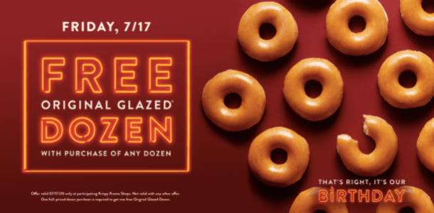 krispy kreme birthday free doughnuts