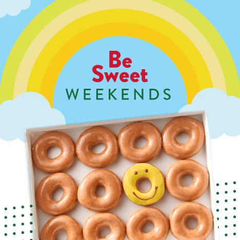 krispy kreme be sweet weekends