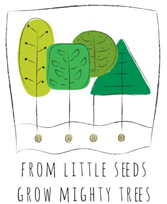 From little seeds grow mighty trees