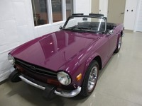 Adorable rare Magenta (original color) TR6 Convertible Sports Car for Sale