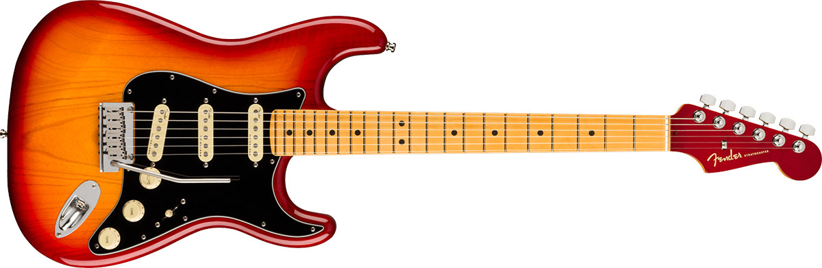 American Ultra Luxe Stratocaster Plasma Red Burst