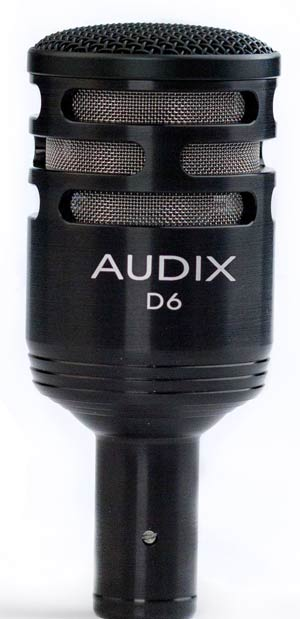 Audix D6 Dynamic Kick Drum Microphone
