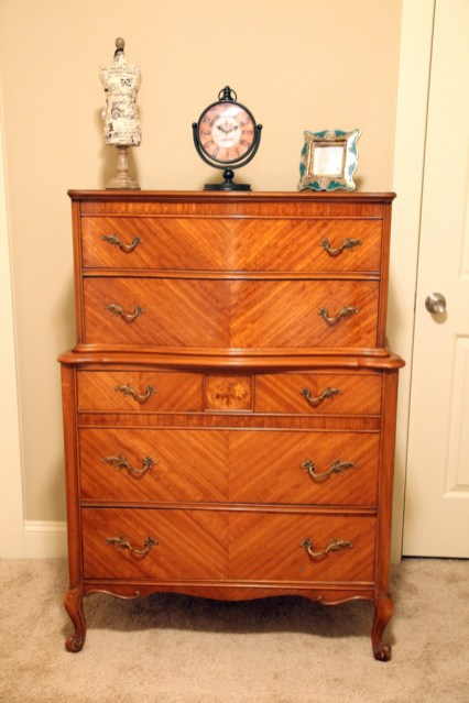 The home is accented with beautiful antiques