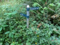 There are trail signs at all of the junctions.