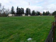 The parade field sites between the infantry barracks and Officers Row.