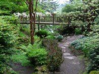 The bridge over a small stream in the garden.