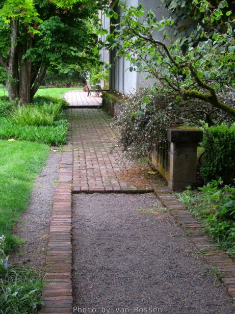 Walkway behind the Manor House.