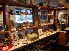 The gift store takes up a large corner of the visitor center.