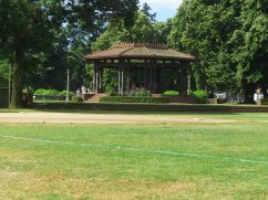 Peninsula Park is the only park in Portland that still has a band stand.