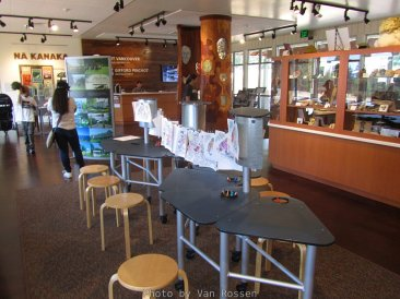 Interior view of the Fort Vancouver Visitor Center.