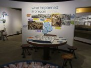 Exhibit talks about the Japanese american internment during ww2.