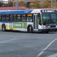This is what one of our buses look like. Some that go into the west hills are shorter.