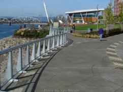 Walk way through Vancouver Waterfront Park.