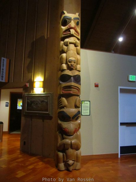 They had a Totem Pole that was kind of in the Northwest Coastal style but not well done.