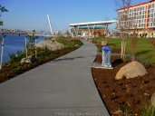 Starting down the path at the new Waterfront Park.