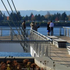 Looks like the new viewing deck is the new place to get married.