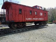 A old caboose is on display at Camp 18.
