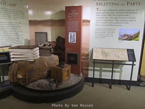 One of the displays tell the story of the Lewis and Clark Expedition.