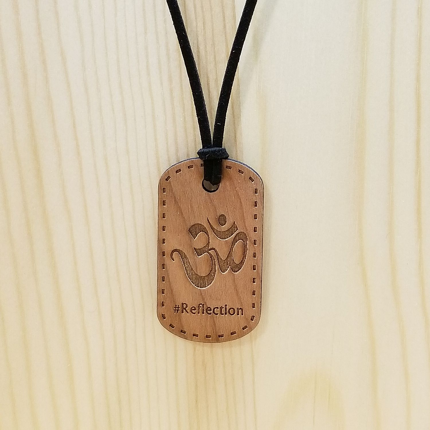 Reflection Hash Tag Pendant Necklace