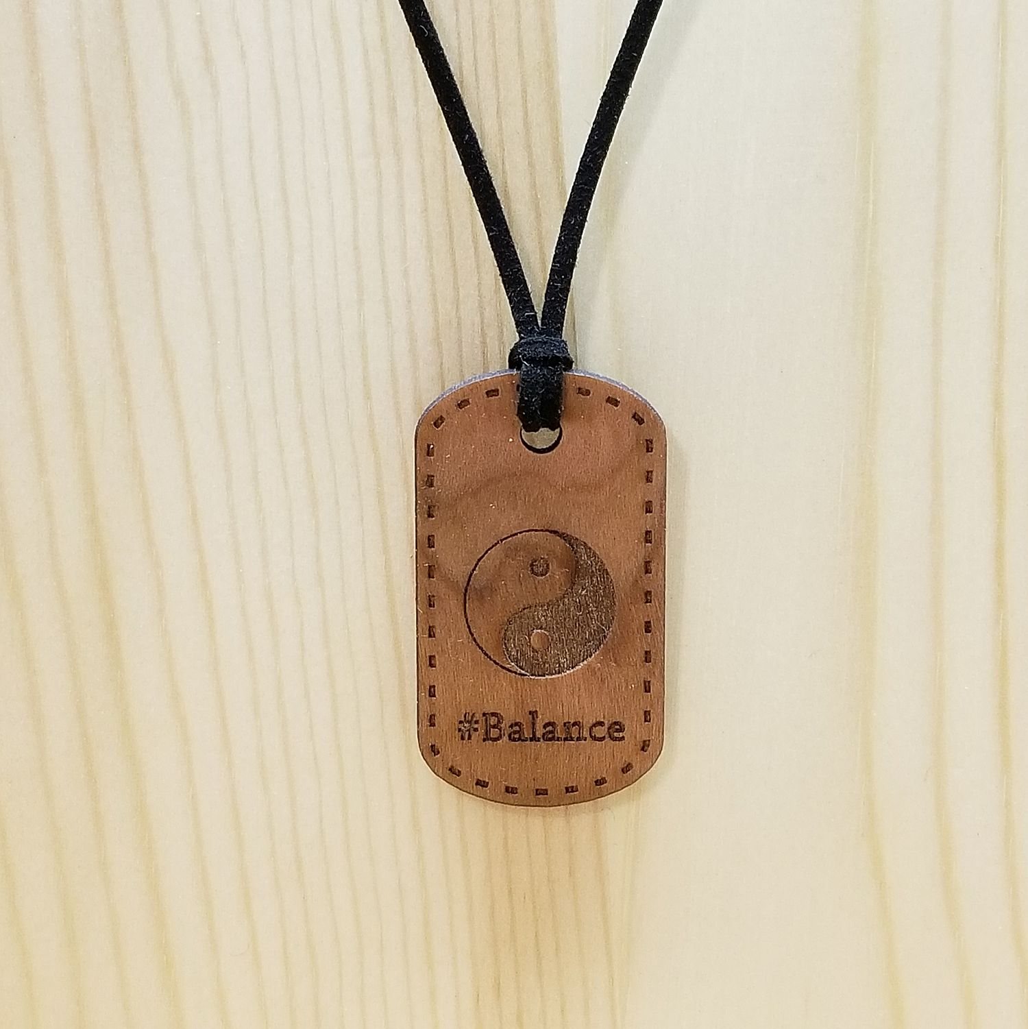 Balance Hash Tag Pendant Necklace