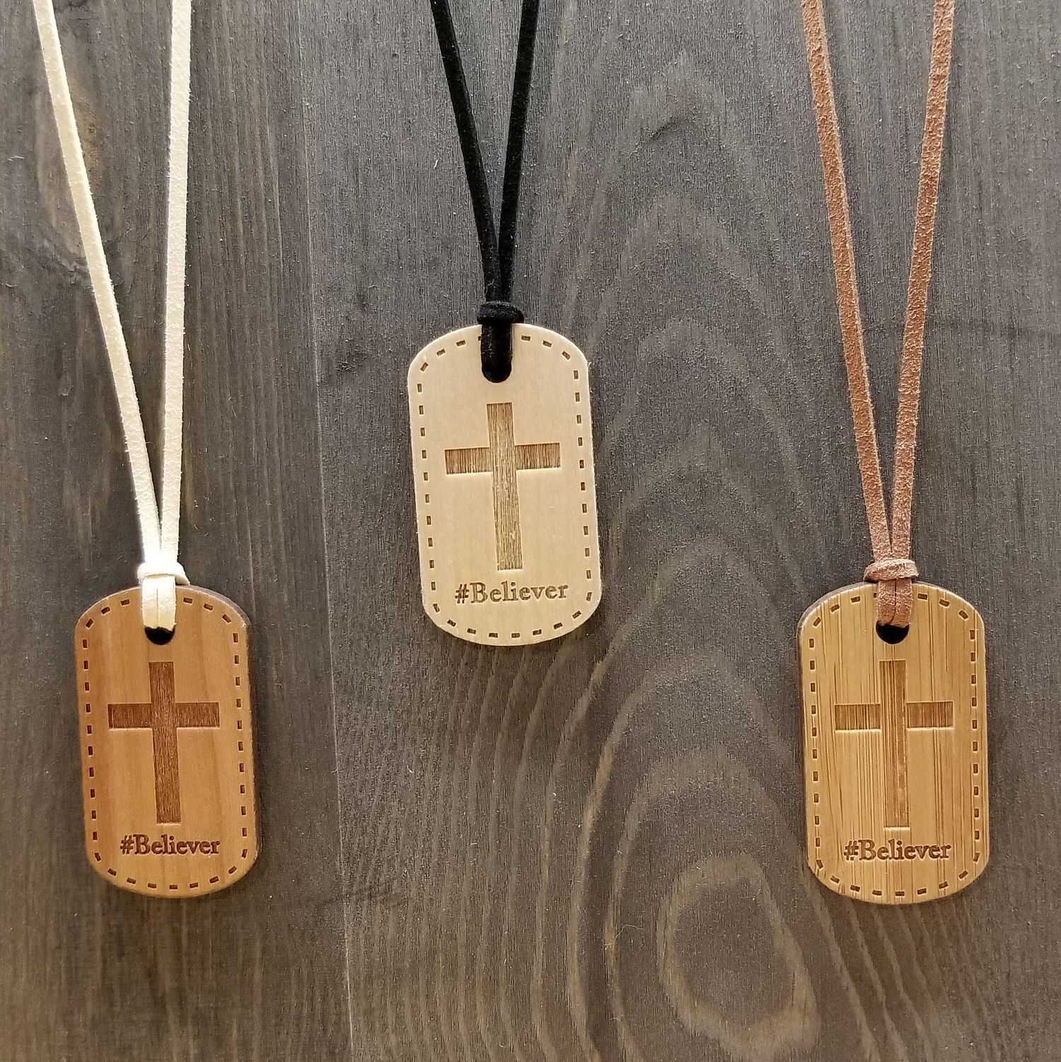 Believer Hash Tag Pendant Necklace- 3 Versions