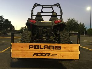 Polaris & RZRs Trailer Gate Sign