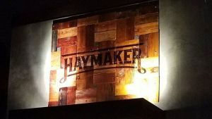 Haymaker Bar and Grill Exterior Sign