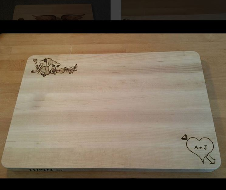 Completed Toon Cutting Board