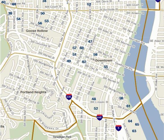 Portland Condos Downtown Portland map Search Condos Portland ... on