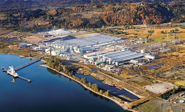 Millennium Bulk Terminals near Longview Washington