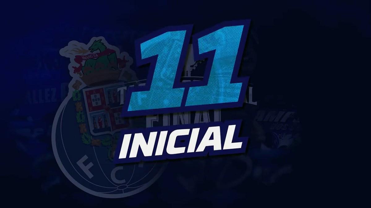 O 11 inicial do FC Porto frente ao SC Braga [Taça de Portugal]