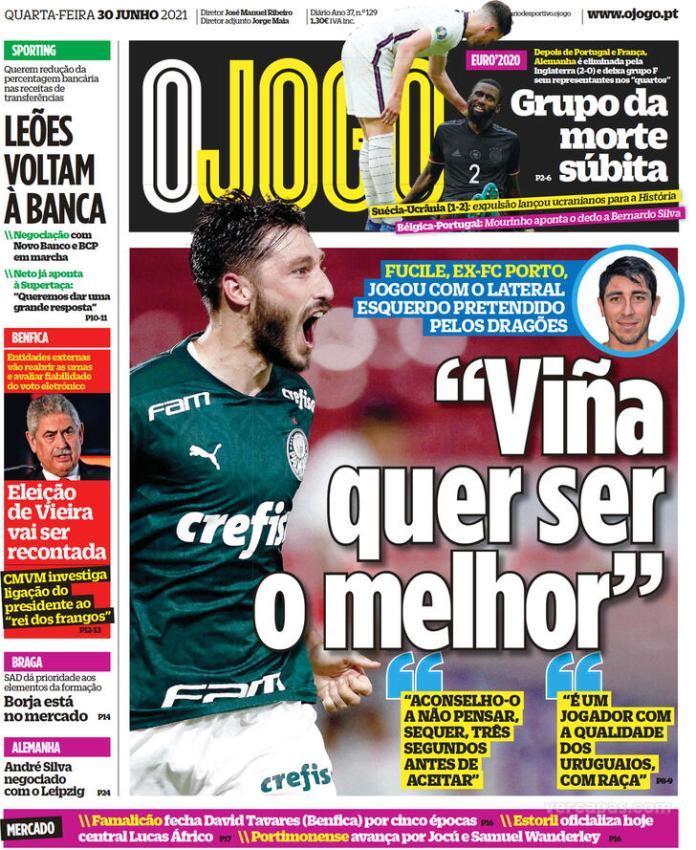 Capas jornais desportivos 30-06-2021