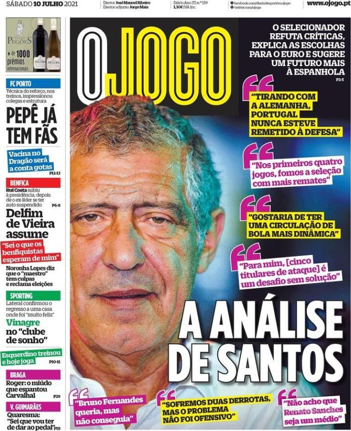 Capas jornais desportivos 10-07-2021