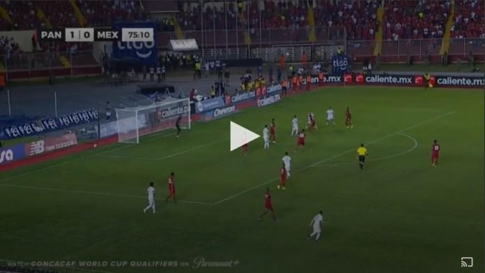 Jesús Corona deu o empate ao México com este golo