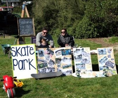 Getting behind the skate park.