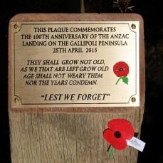 Commemorative totara plaque