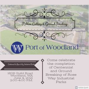 Port to celebrate ground breaking of Rose Way Industrial Park and ribbon cutting of Centennial Industrial Park on June 4