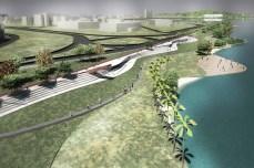 Beira do lago será um espaço de lazer para os porto-alegrenses
