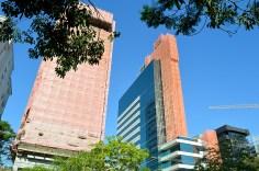 Capital Tower e o Trust Business Center em reforma