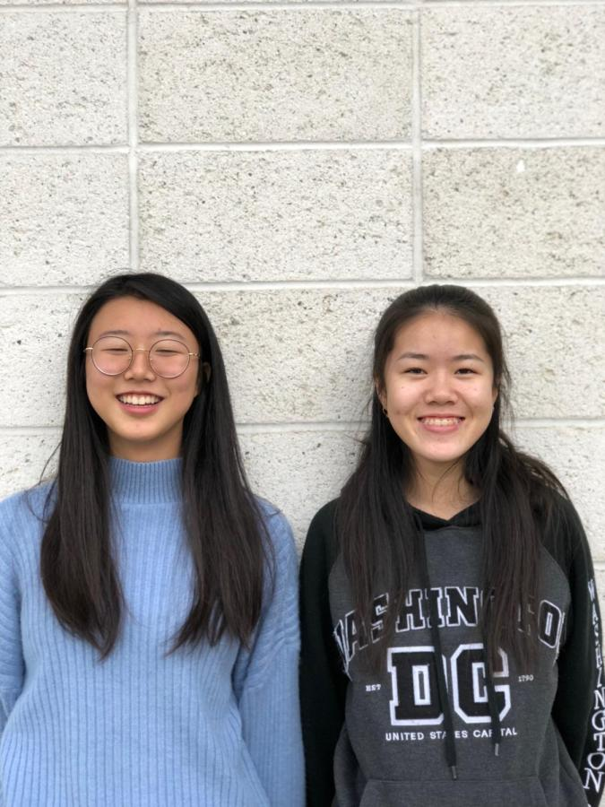 As the season ended Jan. 22, sophomores Jenny Guo and Chloe Ma smile proudly at their accomplishments this season.