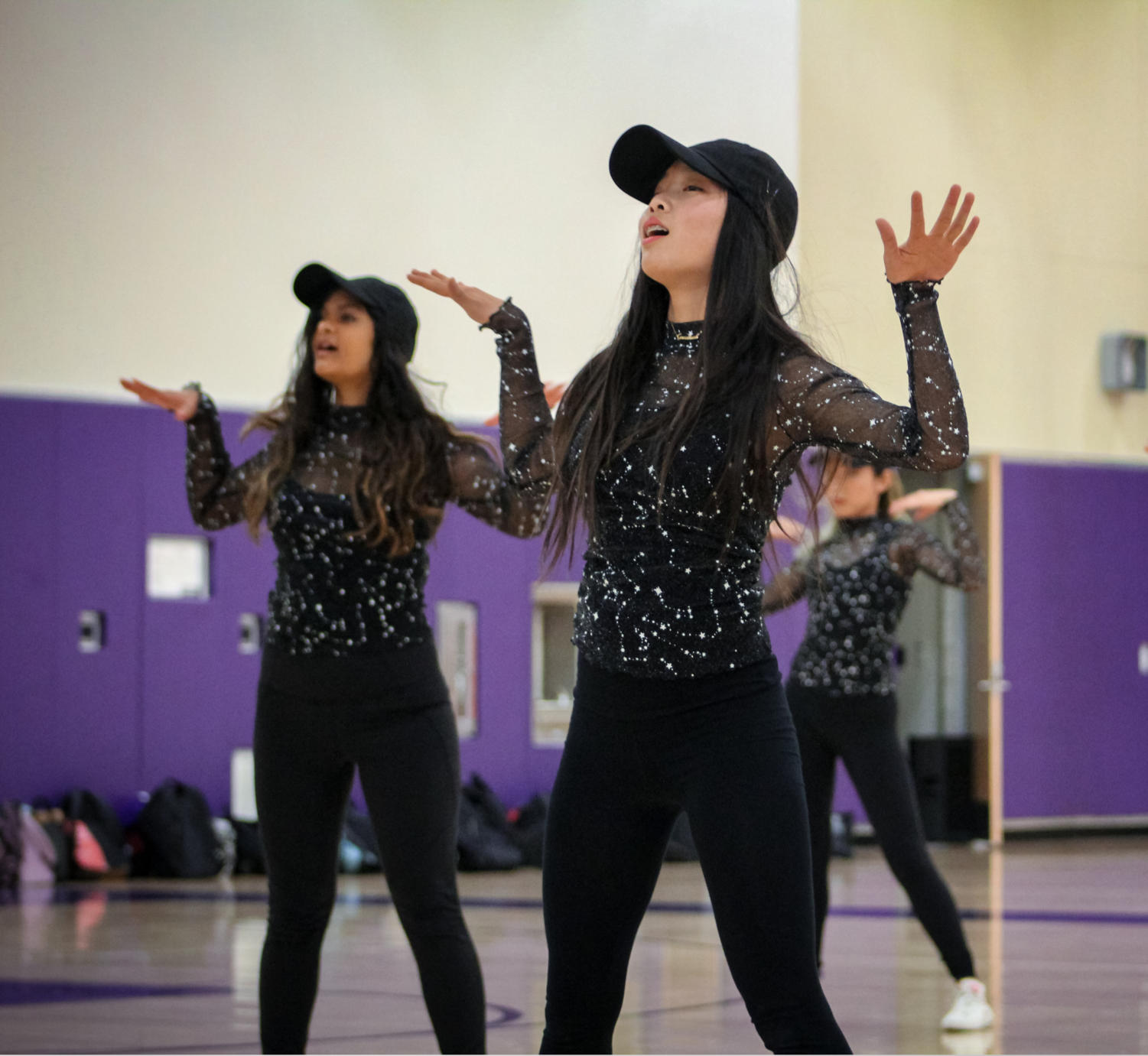 """Freshman Luna Lin dances to """"Partition"""" during dance company's """"Iconic"""" performance."""