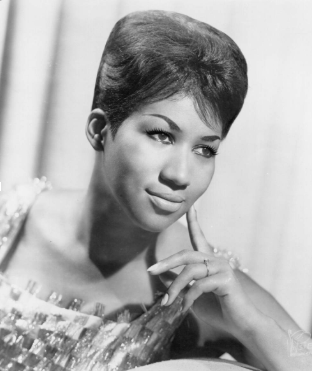 """20 year old Aretha Franklin pictured during the release of her album """"Lady Soul"""""""